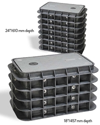 Channell Handhole BULK2, HDPE. 13x24x18. Tier 22 One Piece Lid.