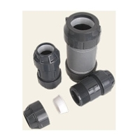 "Coupler, Double ELOC, for 1.5"" HDPE"
