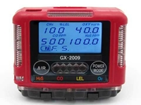 Gas Detector, 4 Gas Handheld, Monitor and Charger, Model #GX-2009