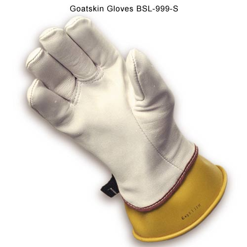 "Glove, High Voltage Protector, Goatskin, Overal Length 12"", Size 9"